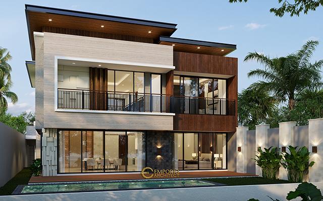 Desain Rumah Modern 2 Lantai Bapak Ali di  Denpasar, Bali
