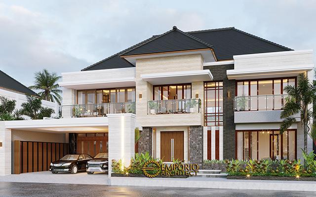 Desain Rumah Modern 2 Lantai Bapak Daniel di  Bengkulu