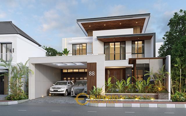 Desain Rumah Modern 2 Lantai Bapak Kevin di  Kudus, Jawa Tengah