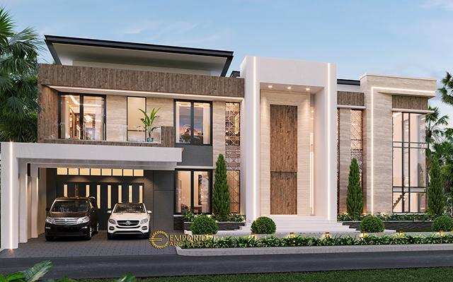 Mr. Melky Tjiang Modern House 2 Floors Design - Palu, Sulawesi Tengah