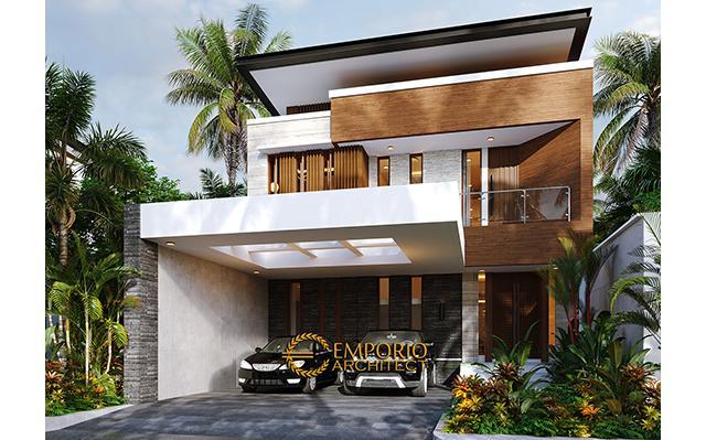 Desain Rumah Modern 2 Lantai Bapak Nicolas di  Makassar, Sulawesi Selatan