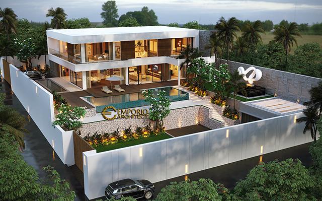 Desain Rumah Modern 2 Lantai Bapak Rahimi di  Manado, Sulawesi Utara