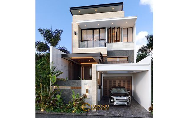 Desain Rumah Modern 2 Lantai Bapak RM di  Bogor, Jawa Barat