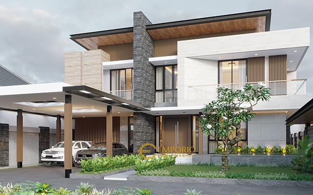 Desain Rumah Modern 2 Lantai Bapak Usman di  Tangerang, Banten