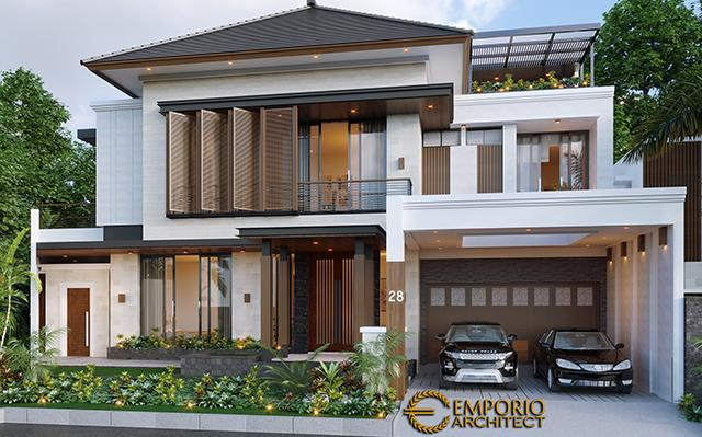 Desain Rumah Modern 2 Lantai Ibu Irma di  Semarang, Jawa Tengah