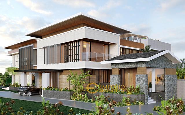 Desain Rumah Modern 2 Lantai Ibu Tina di  Majalengka, Jawa Barat