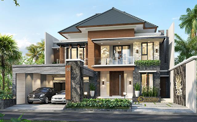 Desain Rumah Modern 2 Lantai Mrs. Asty di  Ponorogo, Jawa Timur