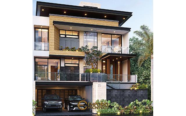 Desain Rumah Modern 2.5 Lantai Bapak Novianto di  Bandung, Jawa Barat