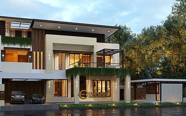 Desain Rumah Modern 2.5 Lantai Bapak Budi di  Jakarta Timur