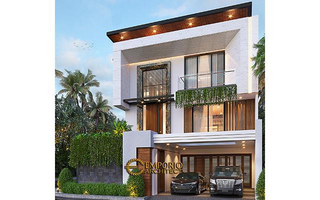 Desain Rumah Modern 2.5 Lantai Ibu Desi di  Jakarta