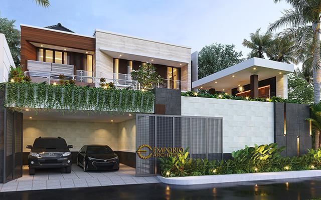 Desain Rumah Modern 2.5 Lantai Ibu Cristine di  Jimbaran, Badung, Bali