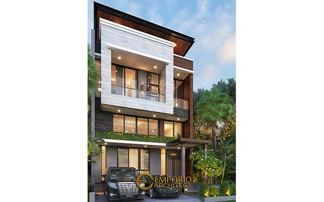 Desain Rumah Modern 2.5 Lantai Bapak David di  Jakarta
