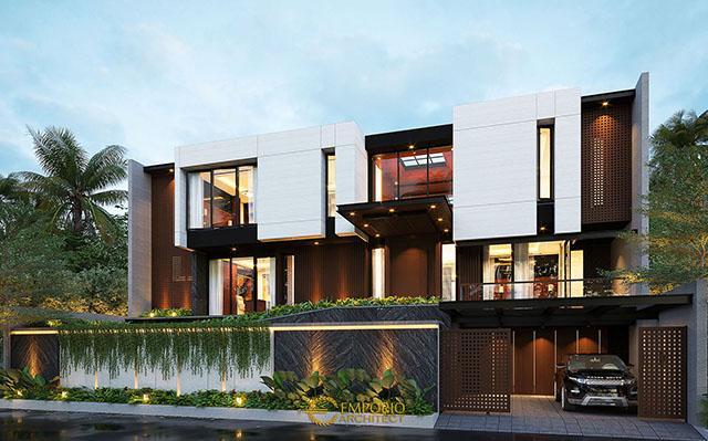 Desain Rumah Modern 2.5 Lantai Mrs. Emma di  Singapore