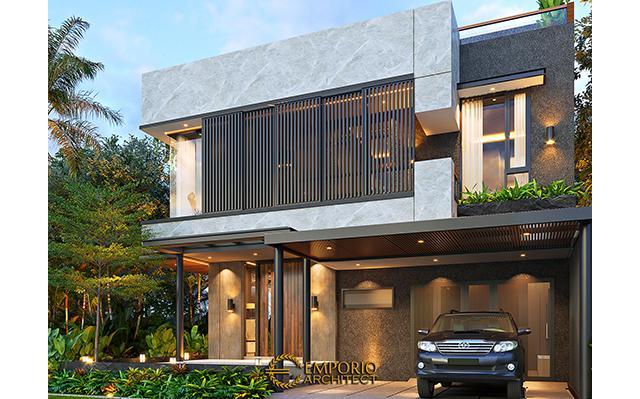 Desain Rumah Modern 2.5 Lantai Bapak Denza di  BSD, Tangerang Selatan, Banten