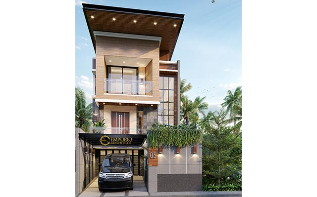 Desain Rumah Modern 2.5 Lantai Ibu Dian di  Bandung, Jawa Barat