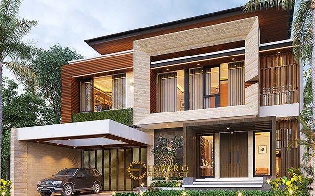 Desain Rumah Modern 2.5 Lantai Ibu Connie di  PIK, Jakarta Utara