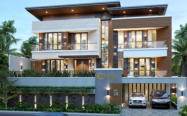 Mrs. Fenny Modern House 2.5 Floors Design - Manado