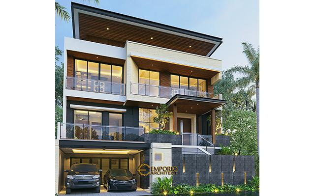 Desain Rumah Modern 2.5 Lantai Bapak Atang di  Bandung, Jawa Barat