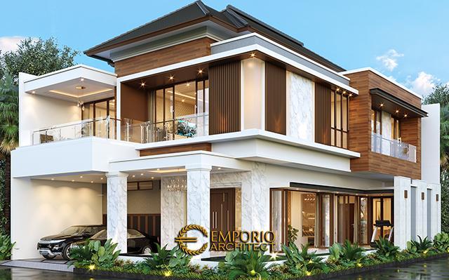 Desain Rumah Modern 2.5 Lantai Ibu Yoke di  Jakarta Timur
