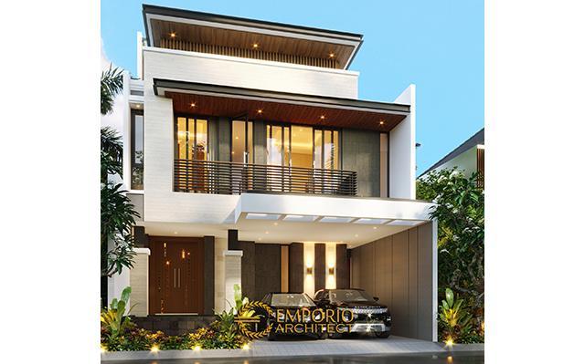 Desain Rumah Modern 2.5 Lantai Bapak Fauzan di  Bekasi, Jawa Barat