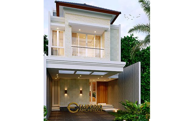 Desain Rumah Modern 2.5 Lantai Bapak Harjono di  Jakarta