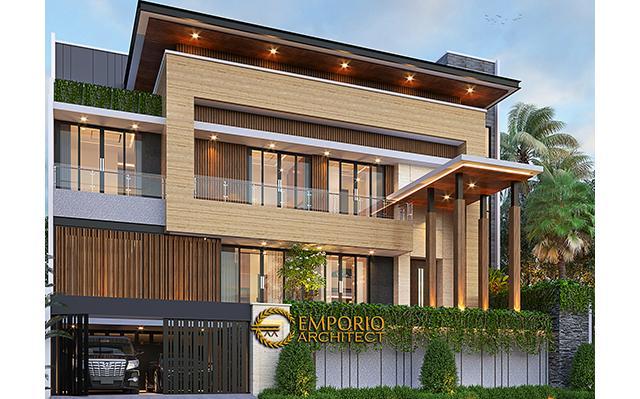 Desain Rumah Modern 2.5 Lantai Bapak Syoffa di  Jakarta Timur