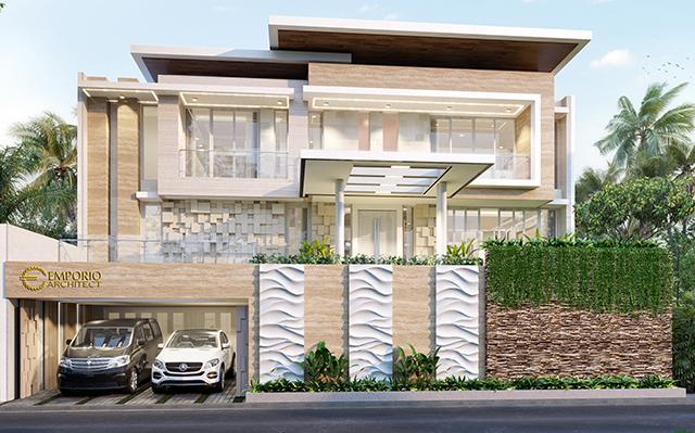 Desain Rumah Modern 2.5 Lantai Ibu Purie di  Bandung, Jawa Barat