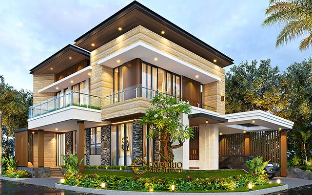 Desain Rumah Modern 2.5 Lantai Ibu Mia di  Jakarta Timur