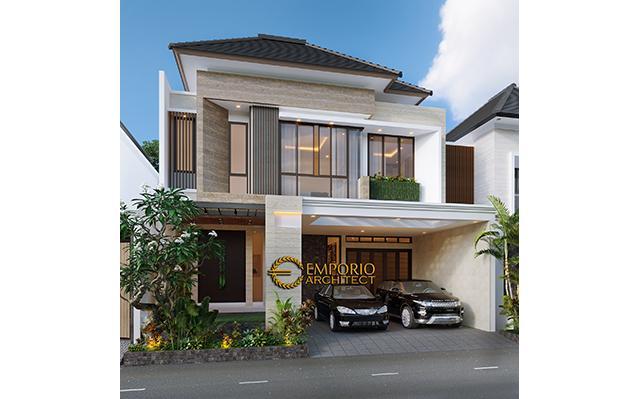 Desain Rumah Modern 2.5 Lantai Bapak Didi di  Jakarta Selatan