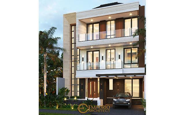 Desain Rumah Modern 3 Lantai Ibu Swan di  Surabaya