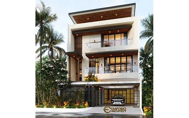 Desain Rumah Modern 3 Lantai Ibu Gisel di  Jakarta Utara