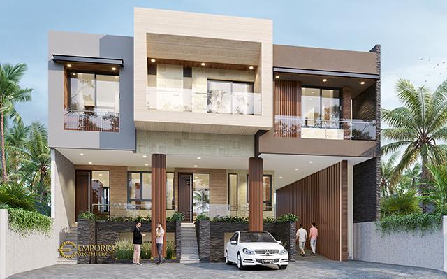 Desain Rumah Modern 3 Lantai Ibu Fei-Fei di  Bandung, Jawa Barat