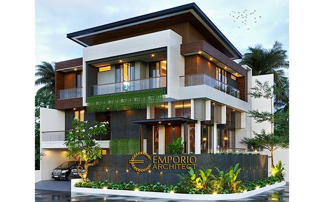 Desain Rumah Modern 3 Lantai Bapak Windu di  Bintaro, Jakarta Selatan