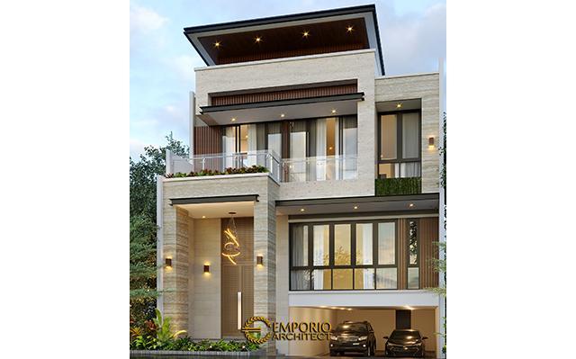 Desain Rumah Modern 3 Lantai Ibu Yasmin di  Bogor, Jawa Barat