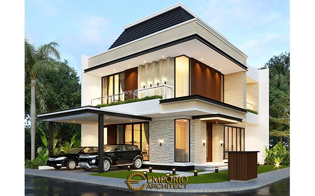 Desain Rumah Modern 3 Lantai Ibu Melani di  Ciracas, Jakarta Timur