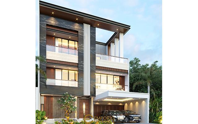 Desain Rumah Modern 3 Lantai Ibu Maria di  Jakarta