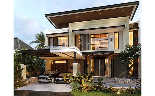Desain Rumah Modern 3 Lantai Ibu Melisa di  Sentul, Bogor, Jawa Barat