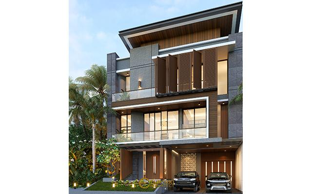 Desain Rumah Modern 3 Lantai Ibu Geya di  Bintaro, Jakarta Selatan