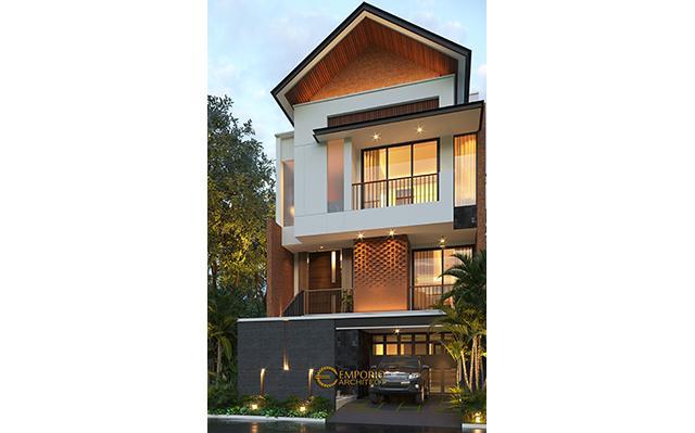 Desain Rumah Modern 3 Lantai Ibu Anita di  Jakarta Selatan