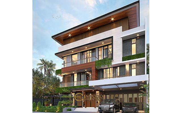 Desain Rumah Modern 3 Lantai Bapak Leo di  Jakarta Utara
