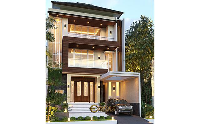Desain Rumah Modern 3 Lantai Bapak Armanto di  Jakarta Utara