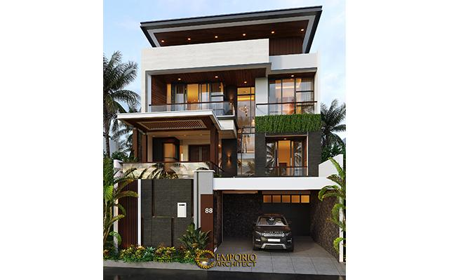 Mr. Budi Modern House 3 Floors Design - Jakarta Utara