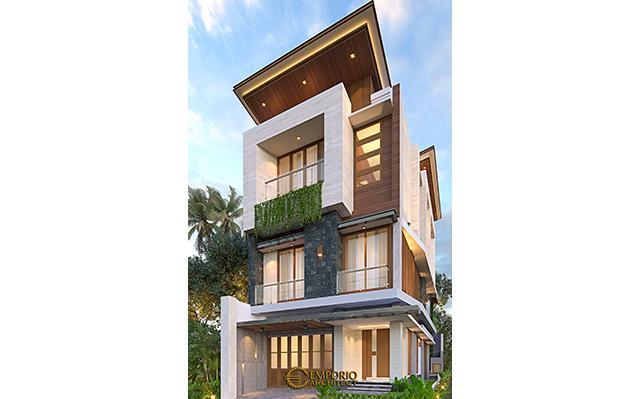 Desain Rumah Modern 3 Lantai Ibu Silvi II di  Surabaya