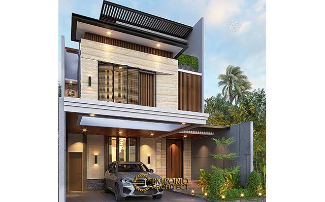 Desain Rumah Modern 3 Lantai Bapak Sugi di  Bekasi, Jawa Barat
