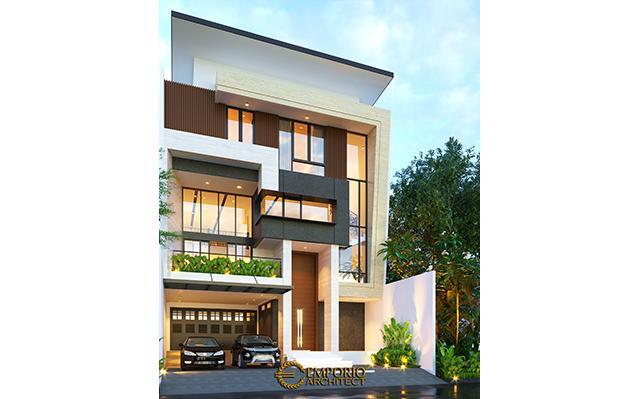 Desain Rumah Modern 3 Lantai Bapak Leonardy di  Jakarta Utara