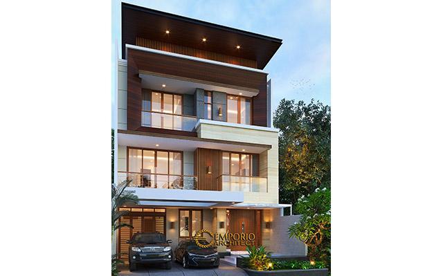 Desain Rumah Modern 3 Lantai Bapak Teddy di  Jakarta Utara