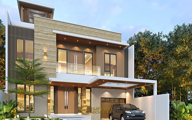 Desain Rumah Modern 3 Lantai Bapak Fahmi di  Tangerang, Banten