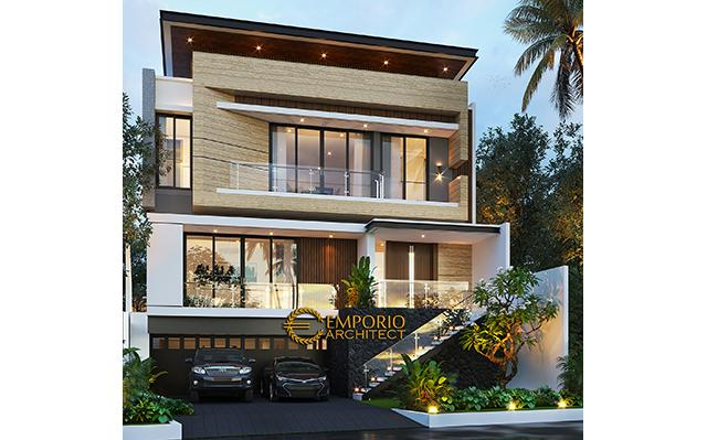 Mr. Karuna Modern House 3 Floors Design - Palembang, Sumatera Selatan