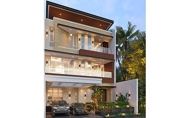 Desain Rumah Modern 3 Lantai Bapak Gunawan di  Jakarta Barat
