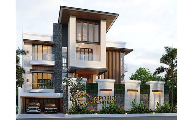 Desain Rumah Modern 3 Lantai Bapak Irawan di  Jakarta